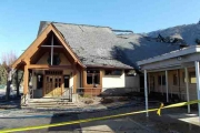 St Ritas Catholic Church in Castlegar was gutted following an overnight fire.  photo courtesy RCMP